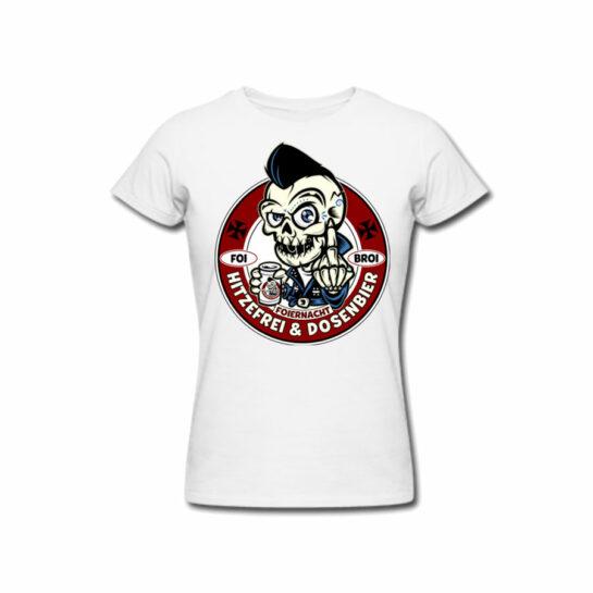 Foiernacht Hitzefrei und Dosenbier Girlie Shirt