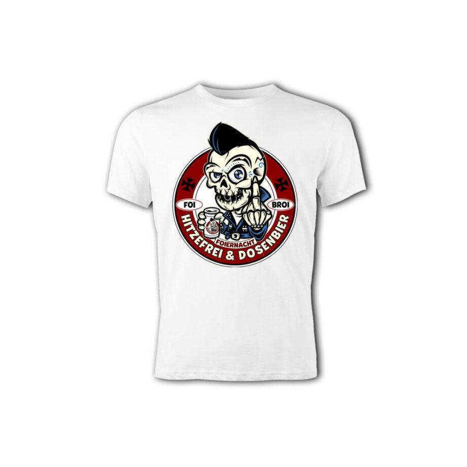 Foiernacht Hitzefrei und Dosenbier Shirt