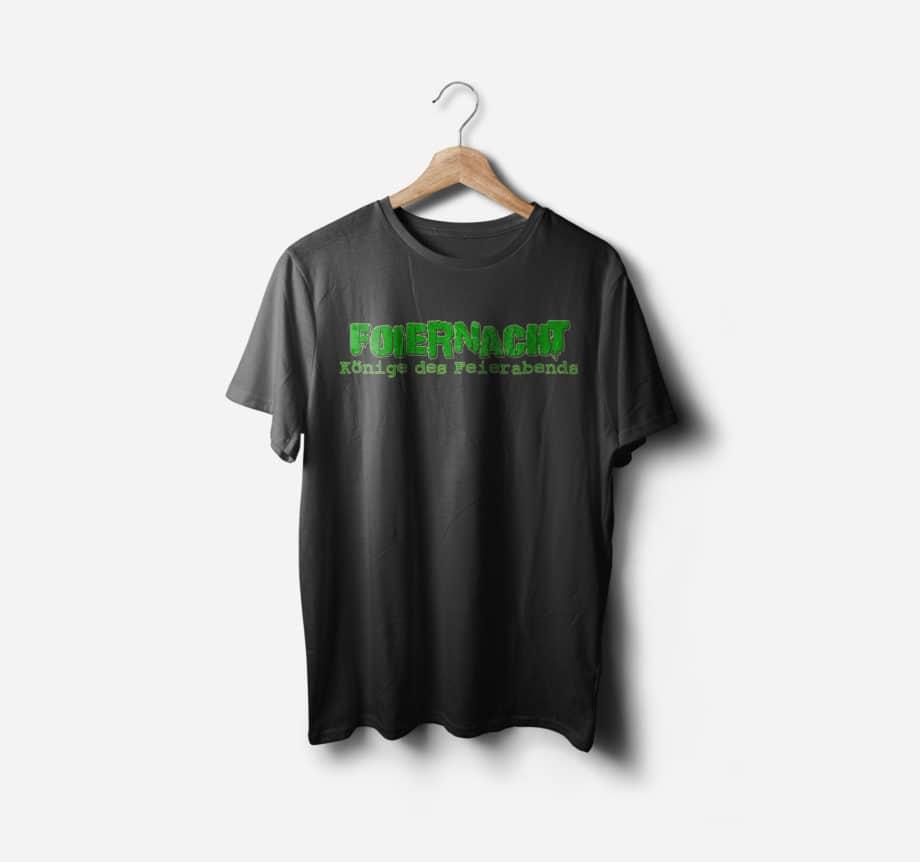 Foiernacht Shirt Könige des Feierabends Vorderseite