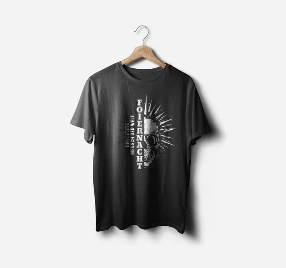 Foiernacht Der letzte Mensch der Welt Shirt Vorderseite